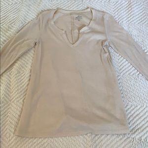 Cream Sweater-Like Long Sleeve